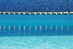 Swimming pool border Royalty Free Stock Images