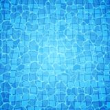 Swimming pool bottom caustics ripple and flow with waves background. Seamless blue ripples pattern. Vector illustration.  vector illustration