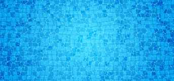 Swimming pool bottom caustics ripple and flow with waves background. Seamless blue ripples pattern. Vector illustration.  royalty free illustration