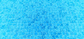 Swimming pool bottom caustics ripple and flow with waves background. Seamless blue ripples pattern. Vector illustration.  stock illustration