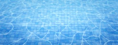 Swimming pool bottom caustics ripple and flow with waves background. Summer background. Texture of water surface. Overhead view. Vector illustration background royalty free illustration