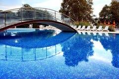Swimming Pool with Bridge Stock Photos