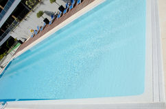 Swimming pool, build, water reflections Stock Image