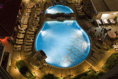 Swimming Pool By Night Royalty Free Stock Photo