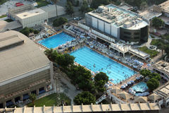 Swimming pool from cairo tower in egypt Royalty Free Stock Photography