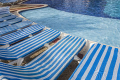 Swimming pool in Cancun, Riviera Maya, Mexico Royalty Free Stock Images