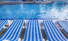 Swimming pool in Cancun, Riviera Maya, Mexico Royalty Free Stock Photography