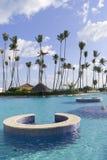 Swimming pool in caribbean resort Stock Image