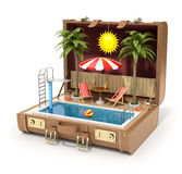 Swimming pool in the case Stock Photo