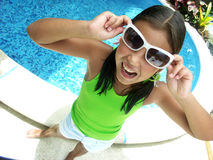 Swimming pool child. Royalty Free Stock Photos