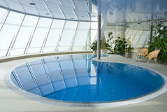 Swimming pool with clean blue water Stock Photography