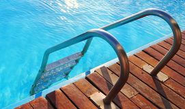 Swimming pool with clean blue water royalty free stock photography