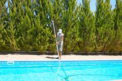 Swimming pool cleaner Royalty Free Stock Photos