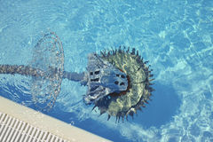 Swimming pool cleaner robot Royalty Free Stock Photography