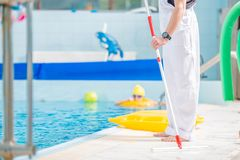 Swimming Pool Cleaner stock photo