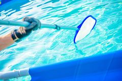 Swimming Pool Cleaning Royalty Free Stock Photos