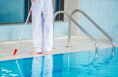 Swimming Pool Cleaning royalty free stock photography