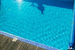 Swimming pool cleaning stock photography