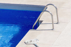 Swimming pool cleaning net Stock Images