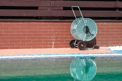 Swimming pool cleaning tools Royalty Free Stock Photo