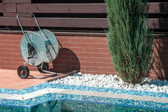 Swimming pool cleaning tools Stock Photos