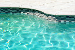Swimming pool with clear turquoise color Royalty Free Stock Photos