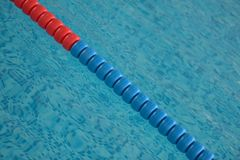 Swimming pool with clear water and swim lanes Royalty Free Stock Photos