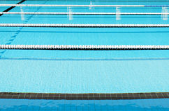 Swimming Pool and clearly marked lanes. Stock Photos