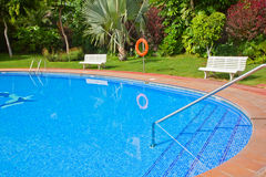 Swimming pool close up Royalty Free Stock Photo
