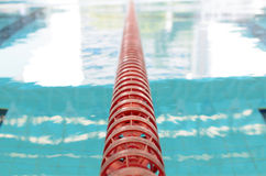 Swimming Pool and close up lanes Royalty Free Stock Photo