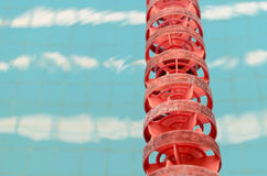 Swimming Pool and close up lanes Stock Image