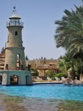 Swimming pool in club el Faraana. The pool with an artificial wave in hotel of Egypt, landscaping, rest in the resort of the Red Sea hit into Naama Bay in Sharm Royalty Free Stock Images