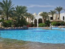 Swimming pool in club el Faraana Stock Photography
