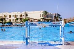 Swimming pool at a coastal tropical resort Royalty Free Stock Photo
