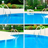 Swimming pool collage Royalty Free Stock Photo