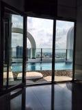 Swimming pool in condominium Stock Images