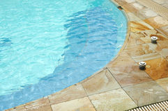 Swimming pool. The corner of the pool Royalty Free Stock Photo