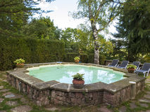 Swimming pool in a country house Royalty Free Stock Photo