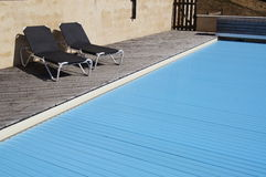 Swimming Pool Cover Stock Images