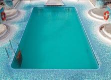 Swimming pool at the cruise ship Royalty Free Stock Photos