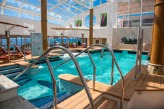 Swimming pool on a cruise ship Royalty Free Stock Photo