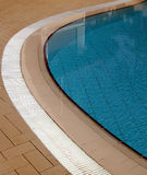 Swimming pool curve. Blue water Stock Photo