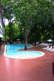Swimming pool on deck Stock Photos