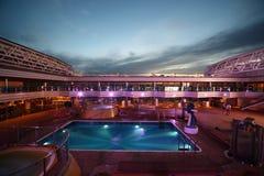 Swimming pool on deck of Costa Deliziosa Stock Photos