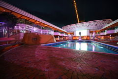 Swimming pool in the deck of Costa Deliziosa Royalty Free Stock Photo