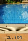Swimming pool depth Royalty Free Stock Image