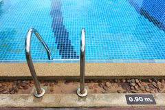 Swimming pool depth marker Stock Image