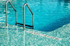 Swimming pool and depth. Swimming pool with Turquoise water and depth indication Stock Photos