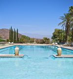 Swimming Pool in the Desert royalty free stock image