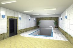Swimming pool design Royalty Free Stock Image
